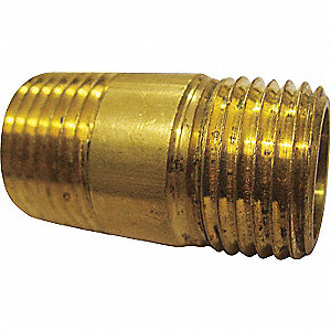 LONG NIPPLE,BRASS,1/8X1 1/2 IN,PK 1