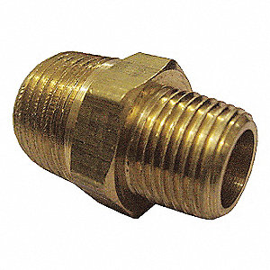 REDUCER NIPPLE,BRASS,1/4X1/8 IN,PK1