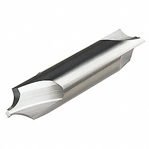 "Corner Rounding End Mill, 0.0600"" Milling Diameter, Number of Flutes: 3, AlTiN, CRE"