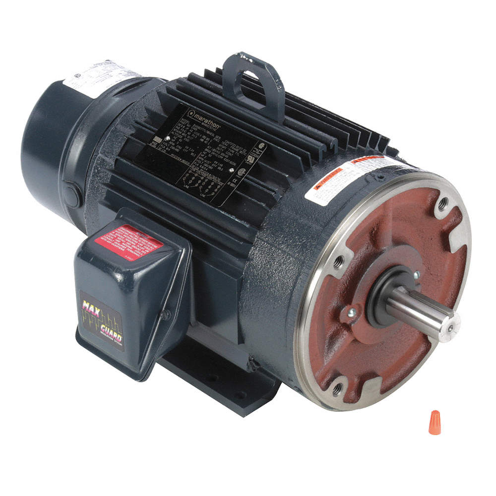 3 HP Brake Motor,3-Phase,1760 Nameplate RPM,230/460 Voltage,Frame 182TC