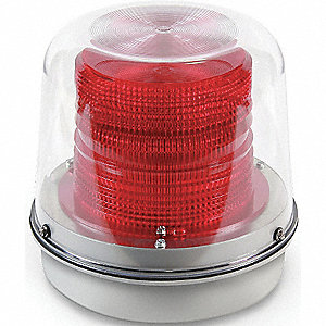 Warning Light,Strobe Tube,120VAC,Red
