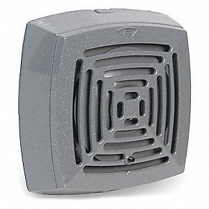 120VAC Indoor Vibrating Horn, 78 to 103dB @ 10 ft., Gray