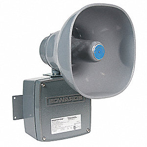 Multi-Tone Signal, Continuous Sound Pattern, 120VAC Voltage, Decibels: 110dB, Color: Gray