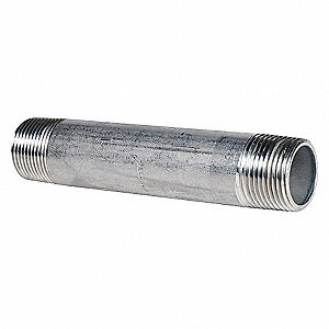 NIPPLE,1 IN,THREADED,304 STAINLESS