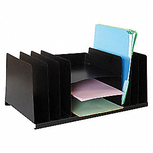 ORGANIZER,LETTER,BLK,9 COMPARTMENT