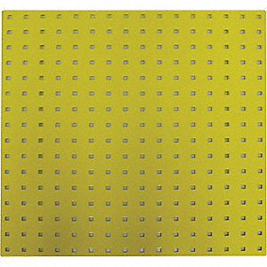 SQUARE HOLE PEGBOARD,24X24,YELLOW,P