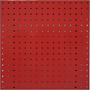 SQUARE HOLE PEGBOARD,24X24,RED,PK2