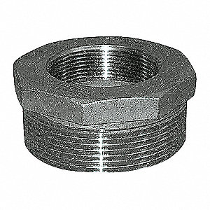 HEX BUSHING,2 X 1 IN,304 SS,150 PSI