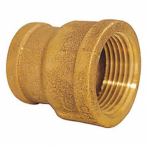 REDUCING COUPLING,RED BRASS,3/4 X 3