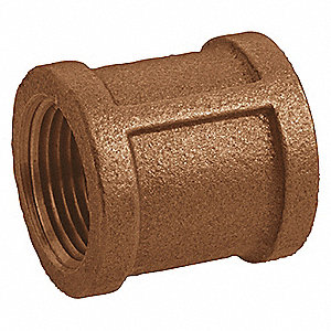 COUPLING,RED BRASS,1 1/4 IN,150 PSI
