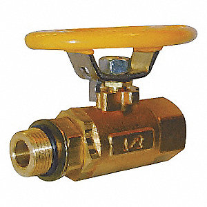 BALL VALVE,TWO PIECE,3/8 IN,BRASS B