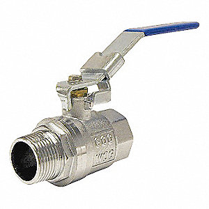 BALL VALVE,BRASS,2 IN NPT M X F