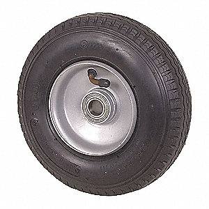 TUBED PNEUMATIC WHEEL,8 IN,300 LB