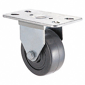 RIGID PLATE CASTER,210 LB,3 IN DIA