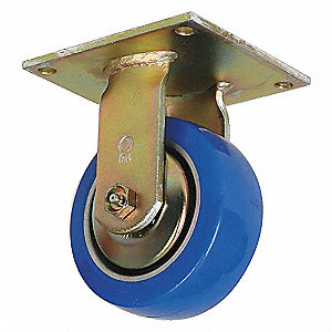 RIGID PLATE CASTER,1200 LB,8 IN DIA