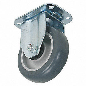 RIGID PLATE CASTER,176 LB,4 IN DIA