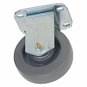 RIGID PLATE CASTER,155 LB,3-1/2 IN
