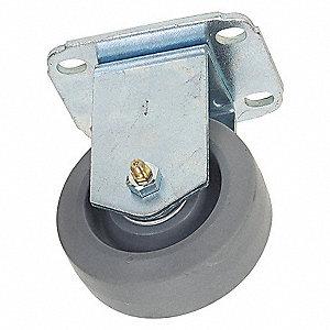 RIGID PLATE CASTER,300 LB,5 IN DIA