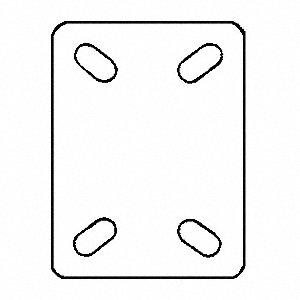 SWIVEL PLATE CASTER,125 LB,3 IN DIA
