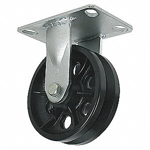 V-GROOVE RIGID CASTER,900 LB.,2IN