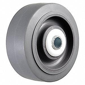 CASTER WHEEL,4 D X 1-1/4 IN. W,300