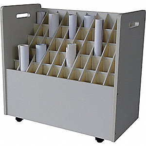 MOBILE ROLL FILE,50 COMPARTMENTS