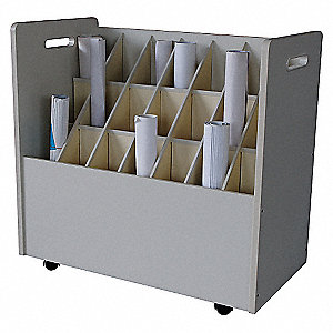 MOBILE ROLL FILE, 21 COMPARTMENTS