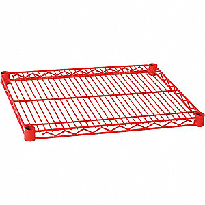 WIRE SHELF,72 X 18 IN.,RED