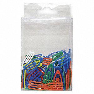 PAPER CLIP,1 IN,ASRT,PLASTIC,PK100