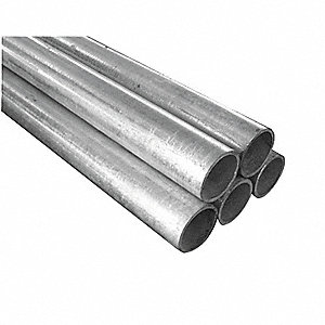 GALVANIZED PIPE,DIA 1.66 IN,PK 5