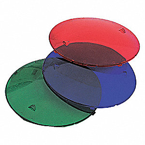 LENS KIT, 1 EA RED, BLUE + GREEN LE