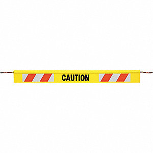 TRAFFIC CONE BAR, 6 FT, YELLOW, CAU