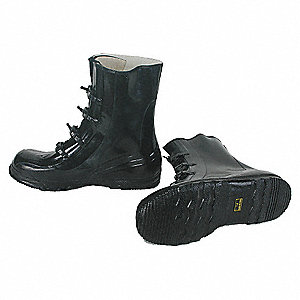 OVERBOOTS,MENS,9,4-BUCKLE,BLK,RUBBE