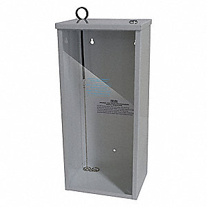 FIRE EXTINGUISHER CABINET,5 LB,WHIT
