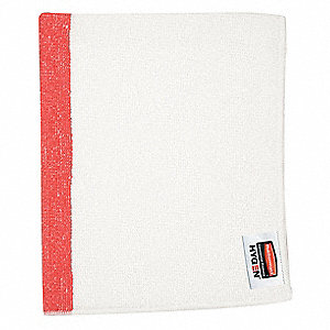 "Microfiber Cloth,16"" x 19"",Red,PK24"