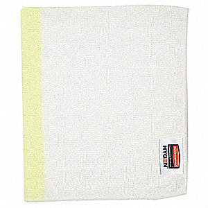 "Light Duty Microfiber Cloth, Yellow, 16"" x 19"", 24 PK"