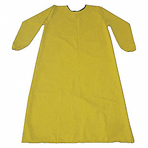 APRON SMOCK 46-1/2IN LONG YELLOW S