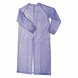 APRON COAT SLEEVE 55 IN LONG BLUE L