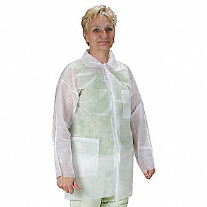 COAT LAB POLYPROPYLENE WHT PK25 4XL