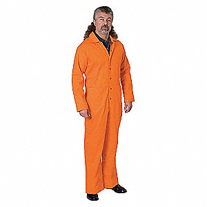 COVERALL FLAME-RESISTANT ORANGE 3XL