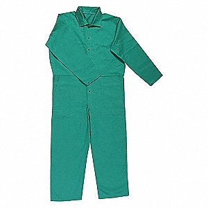 COVERALL FLAME-RESISTANT GREEN L