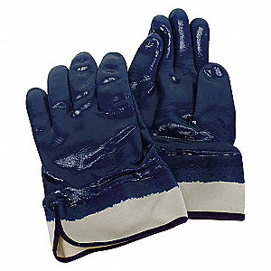 COATED GLOVES,L,BLUE/WHITE,PR