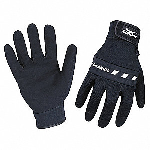 MECHANICS GLOVE,HOOK/LOOP,BLK,M,PR