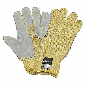 GLOVES CUT RESISTANT GRAY/YELLOW XL