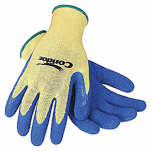 GLOVES CUT RESISTANT YELLOW/BLUE M