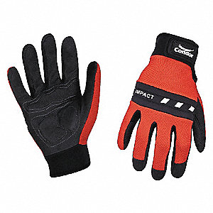 GLOVES ANTI-VIBRATION 2XL RED/BLACK