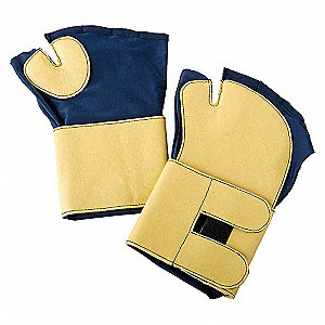 GLOVES ANTI-VIBRATION XL BLUE/GOLDP