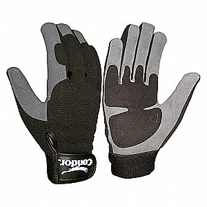 GLOVES ANTI-VIBRATION XL BLACK/GRAY