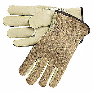 LEATHER DRIVERS GLOVES,COWHIDE,M,PR