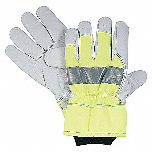 COLD PROTECTION GLOVES,L,HI VIS GRE